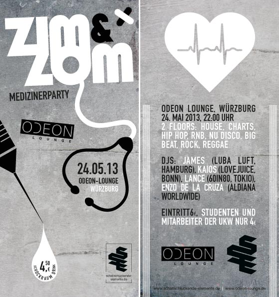 ZIM&ZOM Medizinerparty im Odeon Würzburg am 24.05.13
