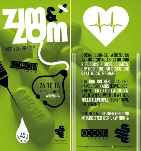 ZIM&ZOM Party am 24.10. 2014 in Würzburg